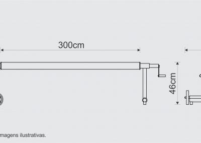 medidas recolhedor 3,00m