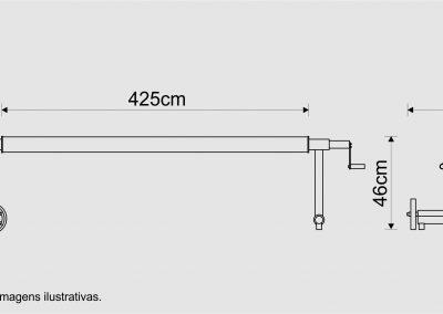 medidas recolhedor 4,25m