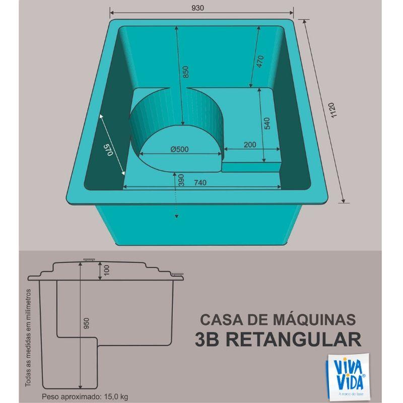 Casa de Máquinas CM 3B Retangular