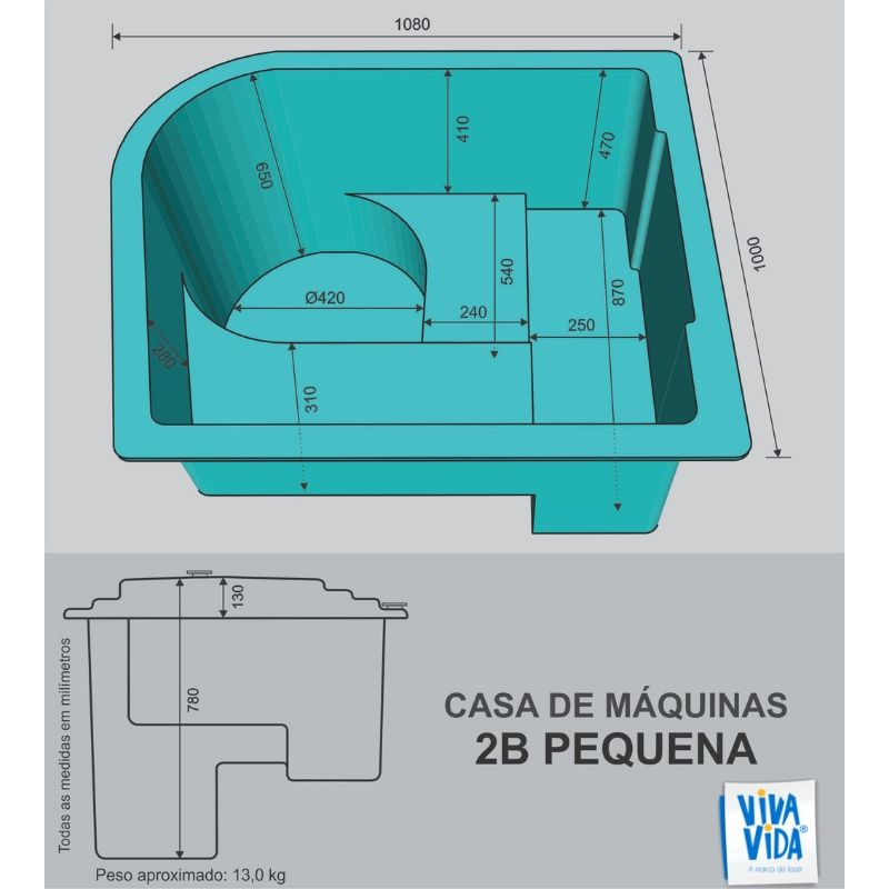 Casa de Máquinas CM 2B Pequena