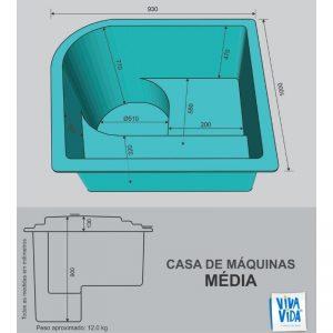 Casa de máquina média