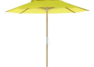 Guarda-sol tipo Italiano (Ombrelone) 2,30m Redondo Ecolight Bagum Amarelo