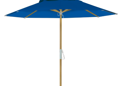 Guarda-sol tipo Italiano (Ombrelone) 2,30m Redondo Ecolight Bagum Azul