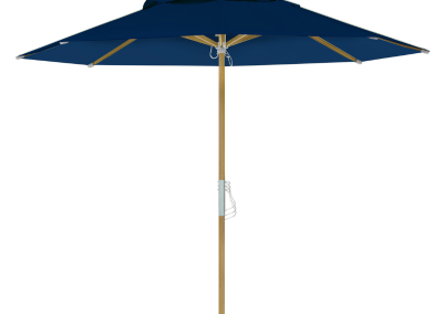 Guarda-sol tipo Italiano (Ombrelone) 2,30m Redondo Ecolight Bagum Azul Marinho