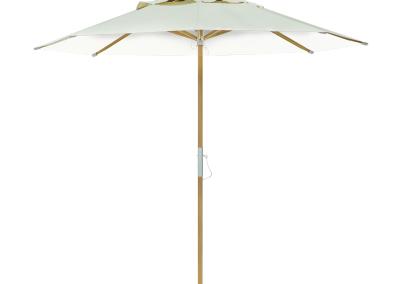 Guarda-sol tipo Italiano (Ombrelone) 2,30m Redondo Ecolight Bagum Branco