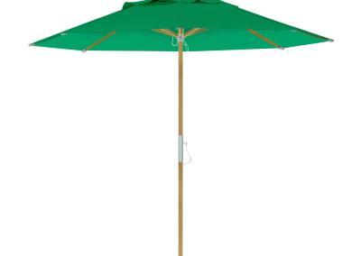 Guarda-sol tipo Italiano (Ombrelone) 2,30m Redondo Ecolight Bagum Verde