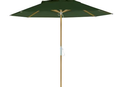Guarda-sol tipo Italiano (Ombrelone) 2,30m Redondo Ecolight Bagum Verde Musgo
