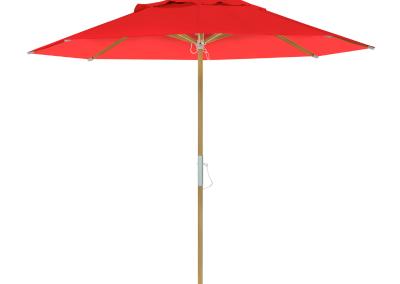 Guarda-sol tipo Italiano (Ombrelone) 2,30m Redondo Ecolight Bagum Vermelho