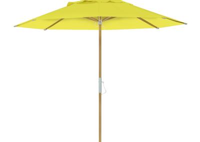 Guarda-sol tipo Italiano (Ombrelone) 2,30m Redondo Ecolight Solaris Amarelo