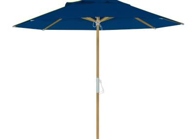 Guarda-sol tipo Italiano (Ombrelone) 2,30m Redondo Ecolight Solaris Azul Marinho