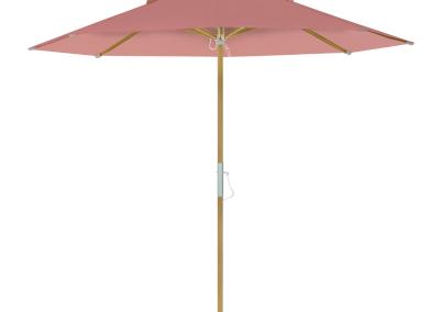 Guarda-sol tipo Italiano (Ombrelone) 2,30m Redondo Ecolight Solaris Rosa