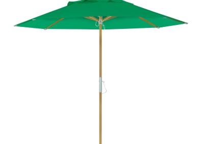 Guarda-sol tipo Italiano (Ombrelone) 2,30m Redondo Ecolight Solaris Verde