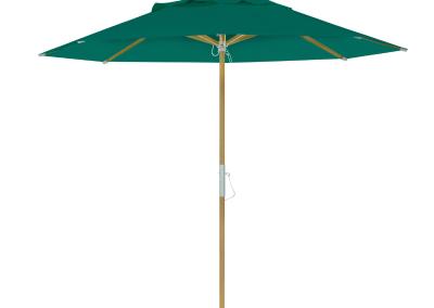 Guarda-sol tipo Italiano (Ombrelone) 2,30m Redondo Ecolight Solaris Verde Musgo