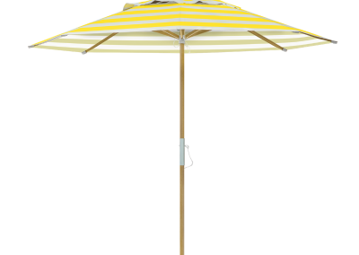 Guarda-sol tipo Italiano (Ombrelone) 2,30m Redondo Ecolight Vinil Listrado Amarelo