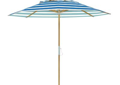 Guarda-sol tipo Italiano (Ombrelone) 2,30m Redondo Ecolight Vinil Listrado Azul