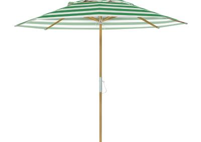 Guarda-sol tipo Italiano (Ombrelone) 2,30m Redondo Ecolight Vinil Listrado Verde