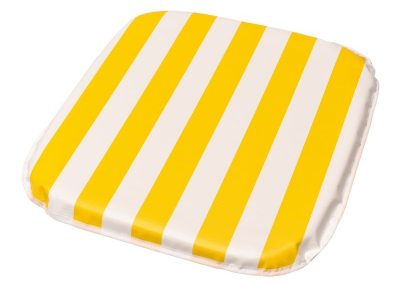 Almofada p/ poltrona 40 x 40 x 1,80cm vinil listrado amarelo