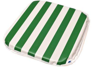 Almofada p/ poltrona 40 x 40 x 1,80cm vinil listrado verde
