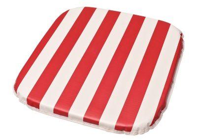 Almofada p/ poltrona 40 x 40 x 1,80cm vinil listrado vermelho